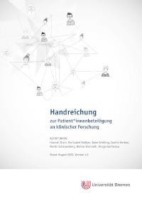 Cover der Handreichung zur aktiven Beteiligung von Patientinnen und Patienten an klinischer Forschung