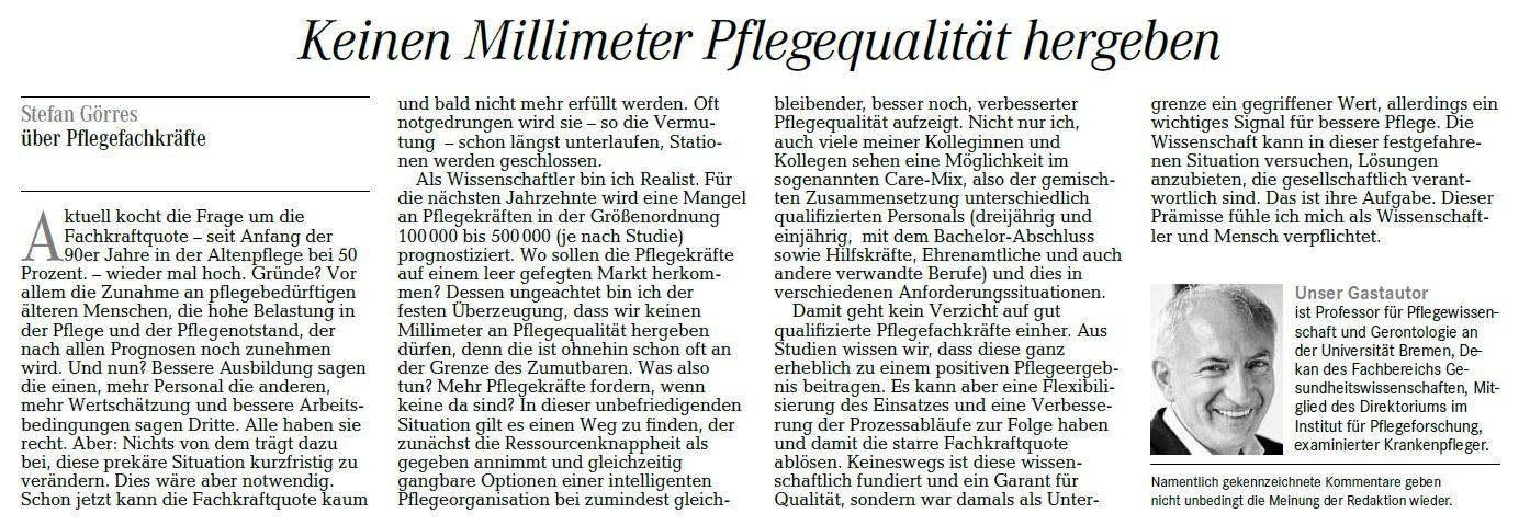 Prof. Dr. Görres / WESER-KURIER